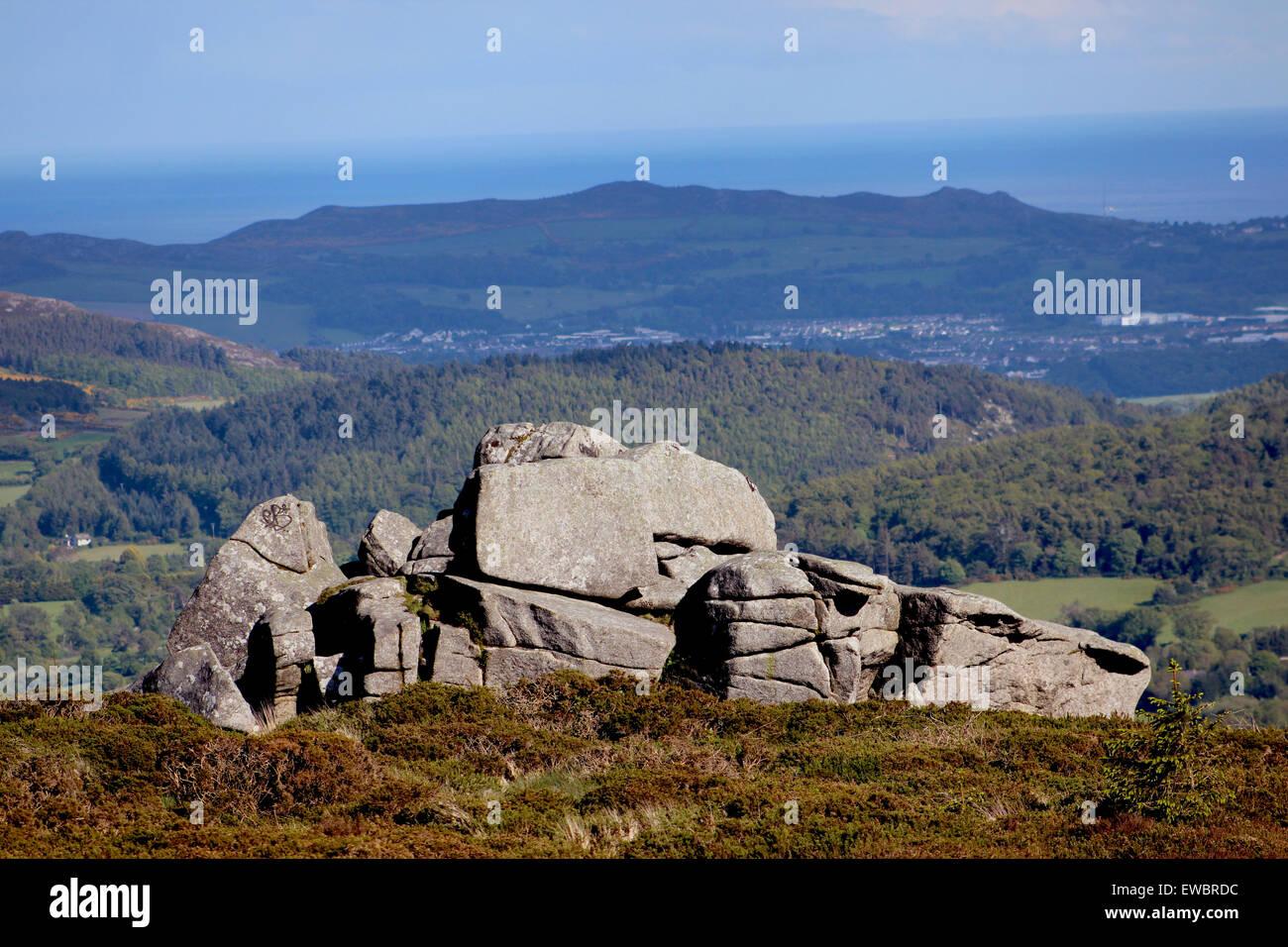 Les montagnes, les montagnes, les montagnes, les montagnes, l'absence, l'angle, la crainte, l'arrière Photo Stock