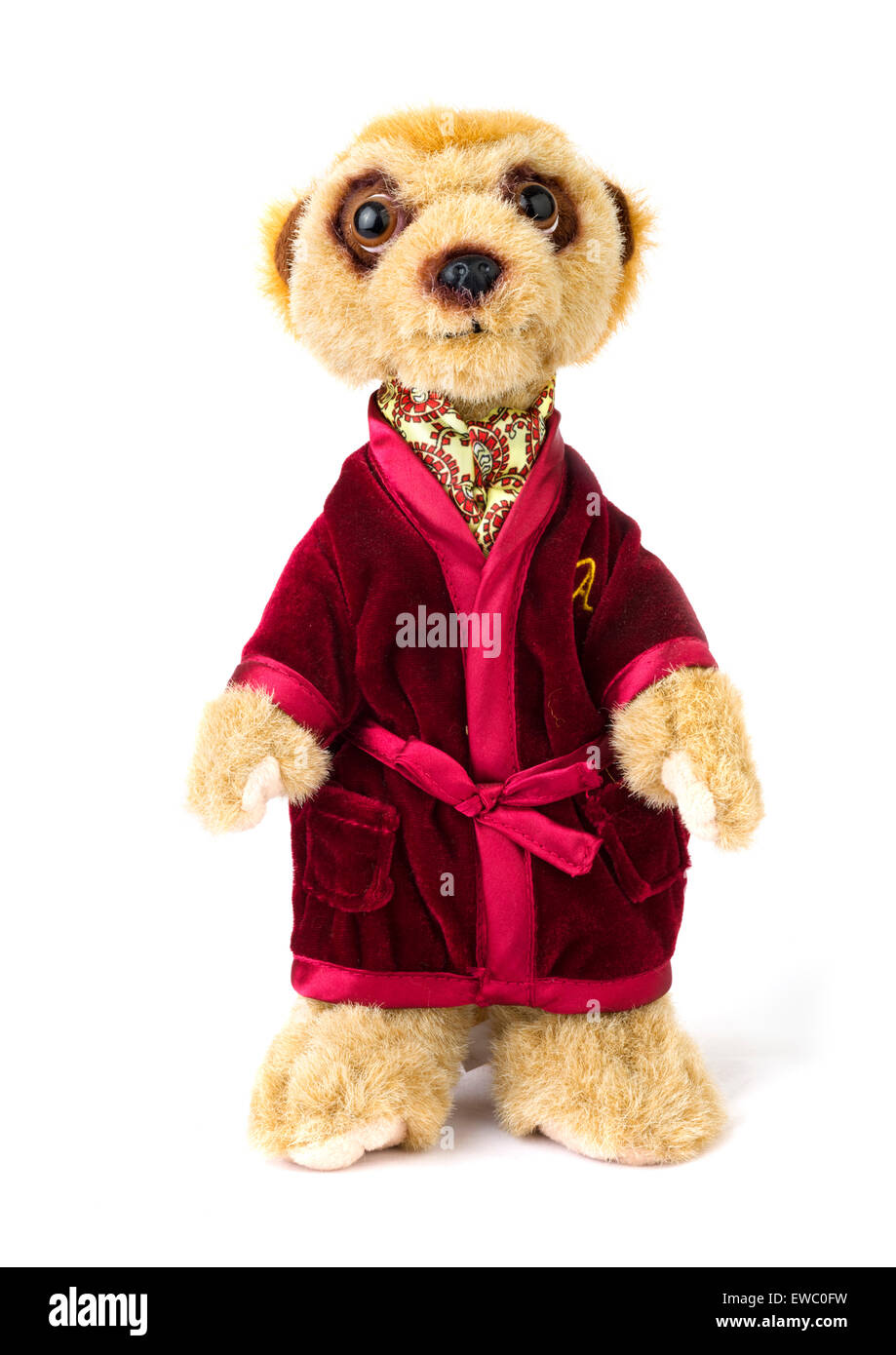 Aleksandr Orlov meerkat jouet de Comparethemarket.com site de comparaison de prix, UK Photo Stock