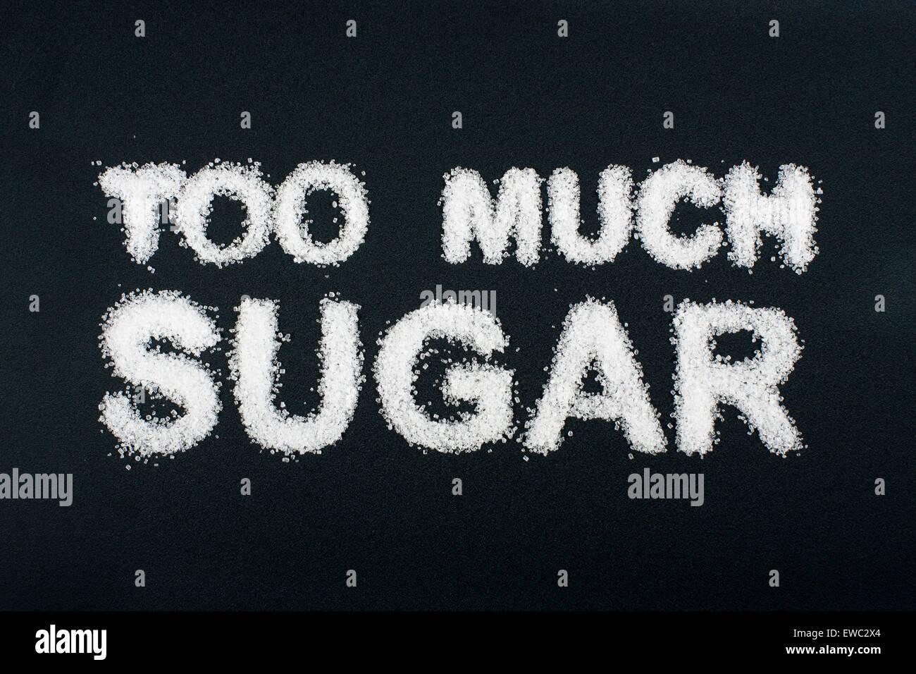 Concept d'aliments malsains - sucre Photo Stock