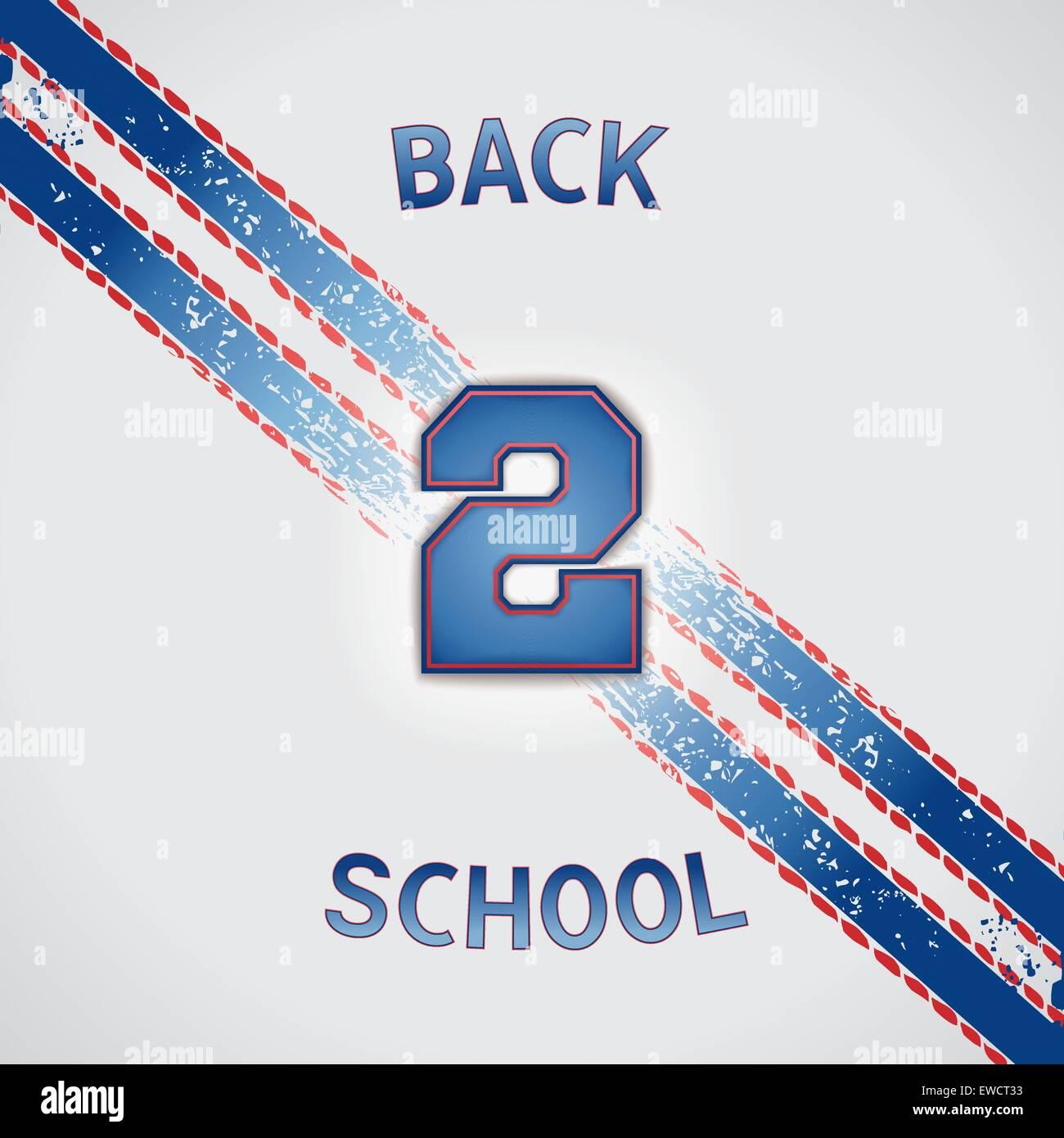 Retour à l'école - Jeu de poster design vectoriels EPS 10. Photo Stock