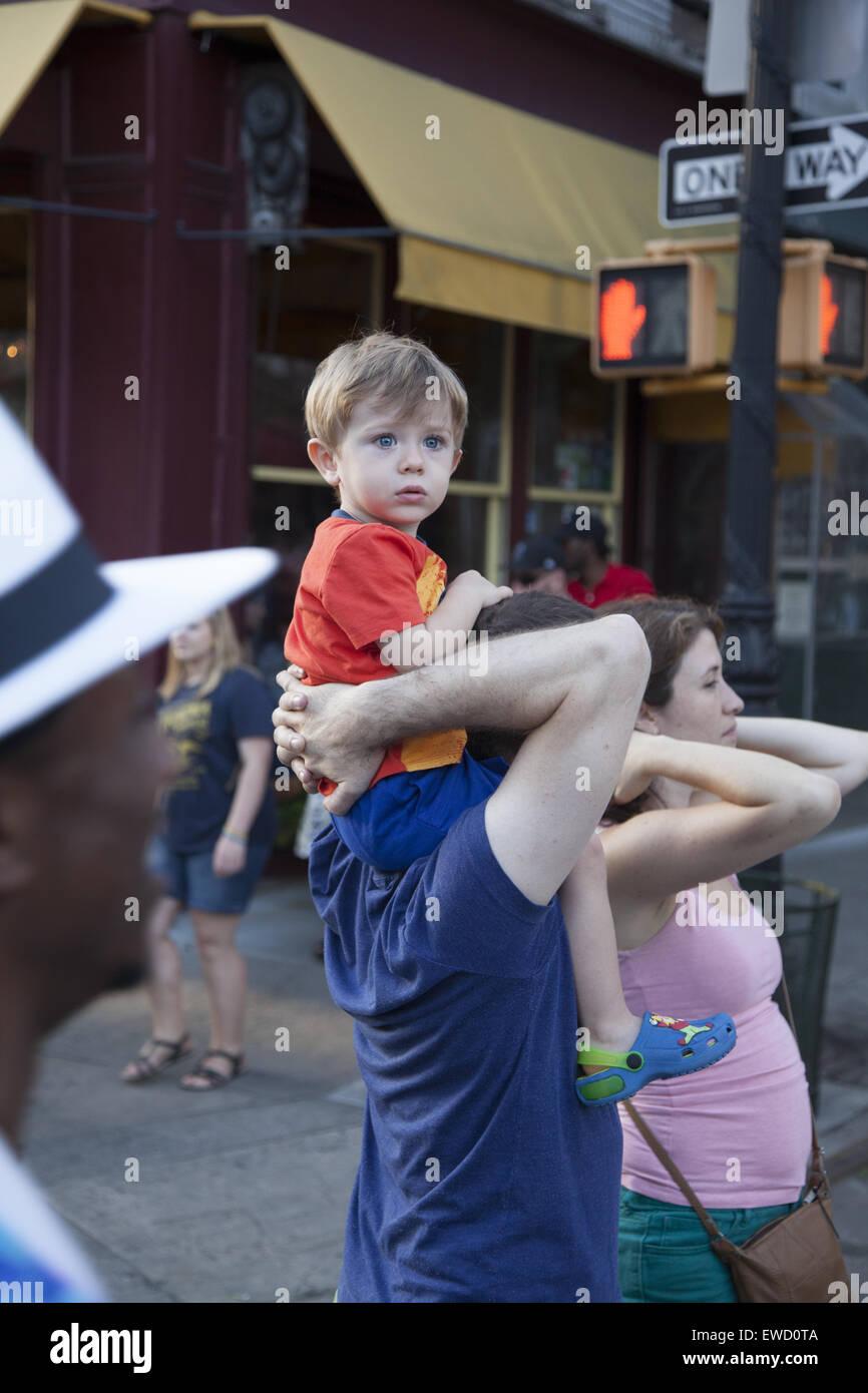 LGBT, Gay Pride Parade qui a lieu chaque année sur la 5e Avenue à Park Slope, Brooklyn, New York. Photo Stock