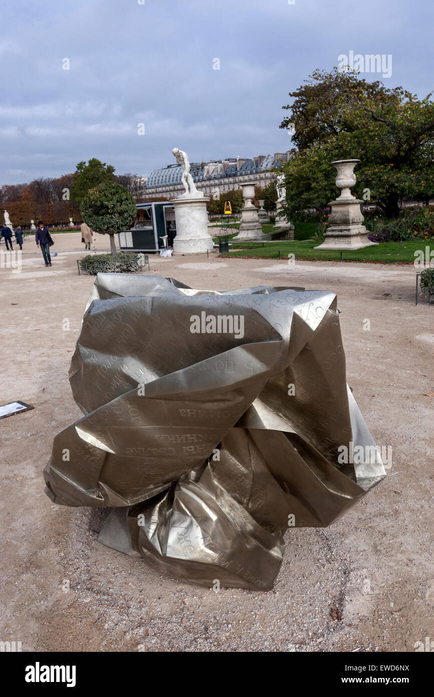 Wang Du Les Modes 2007 sculpture dans le jardin des Tuileries, Jardin des Tuileries, Paris Photo Stock