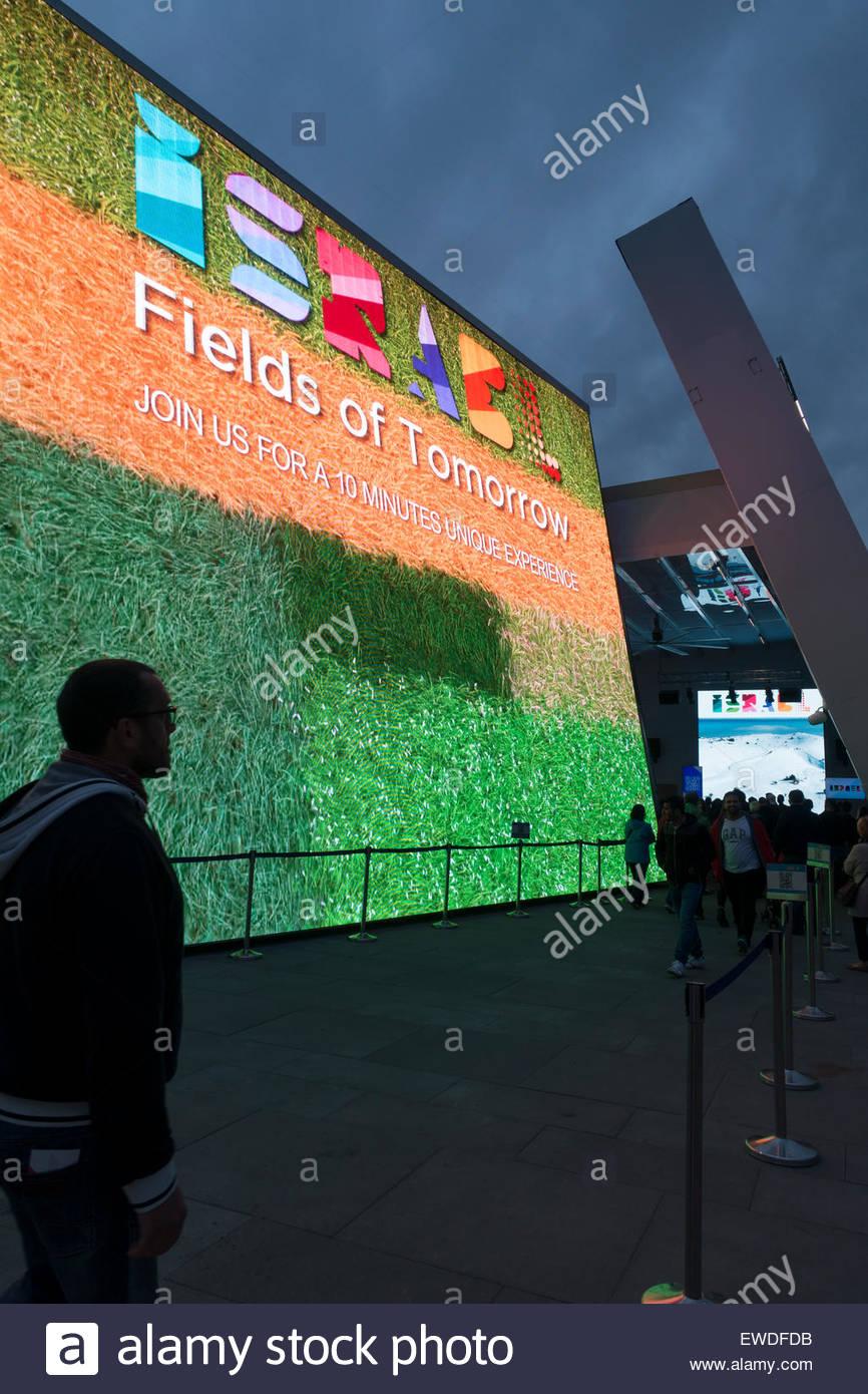 Israël PAVILION MILAN EXPO 2015 Banque D'Images