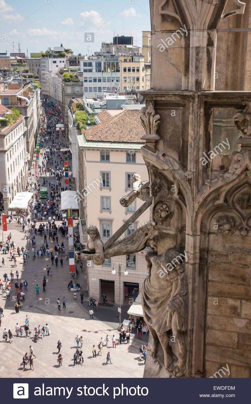 La cathédrale de Milan Italie centrale Banque D'Images
