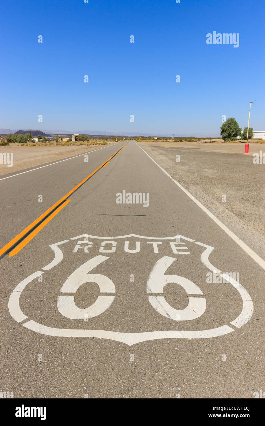 Amboy sur la Route 66, en Californie, USA. Photo Stock