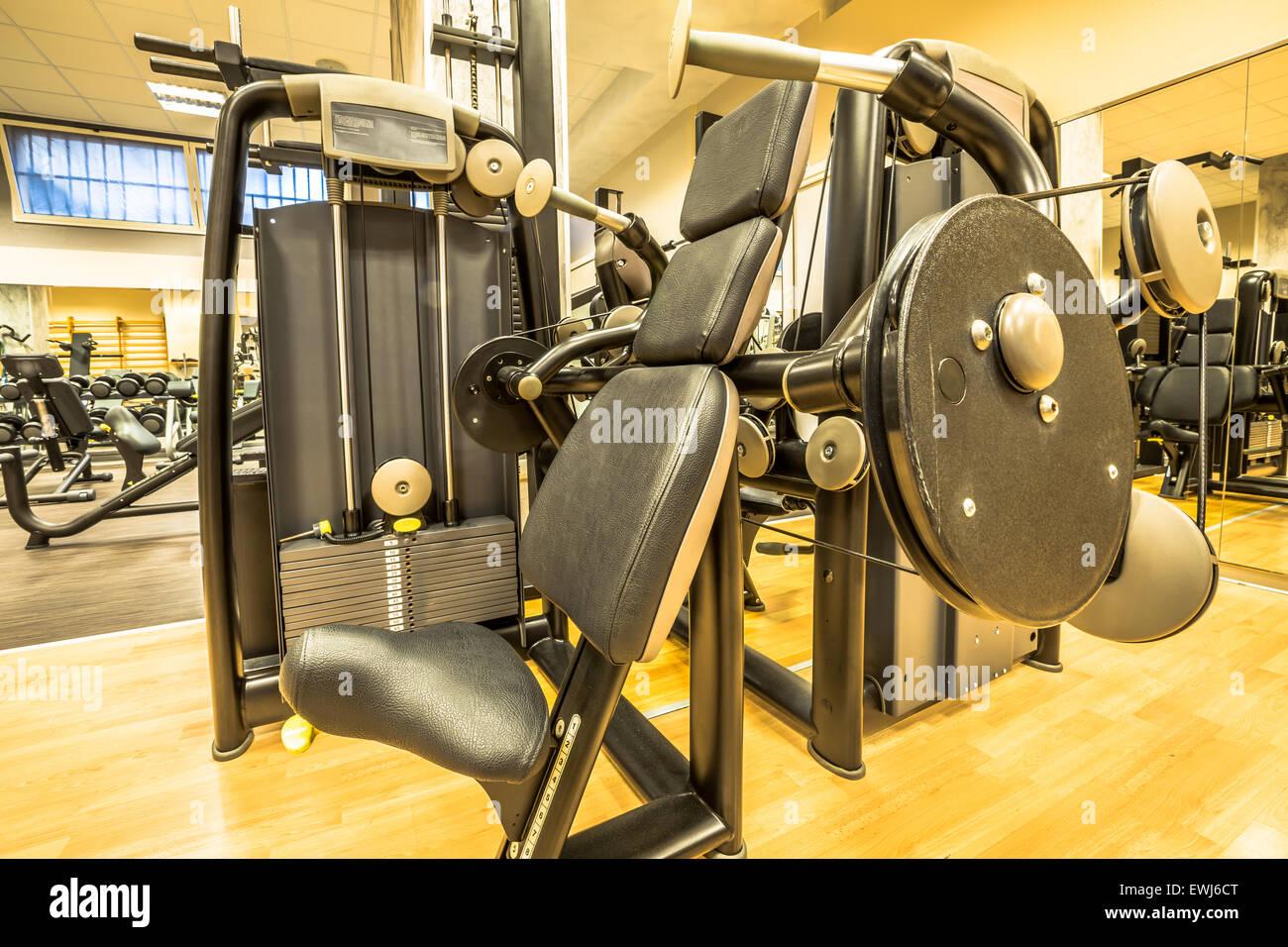 Intérieur de la salle de gym Photo Stock
