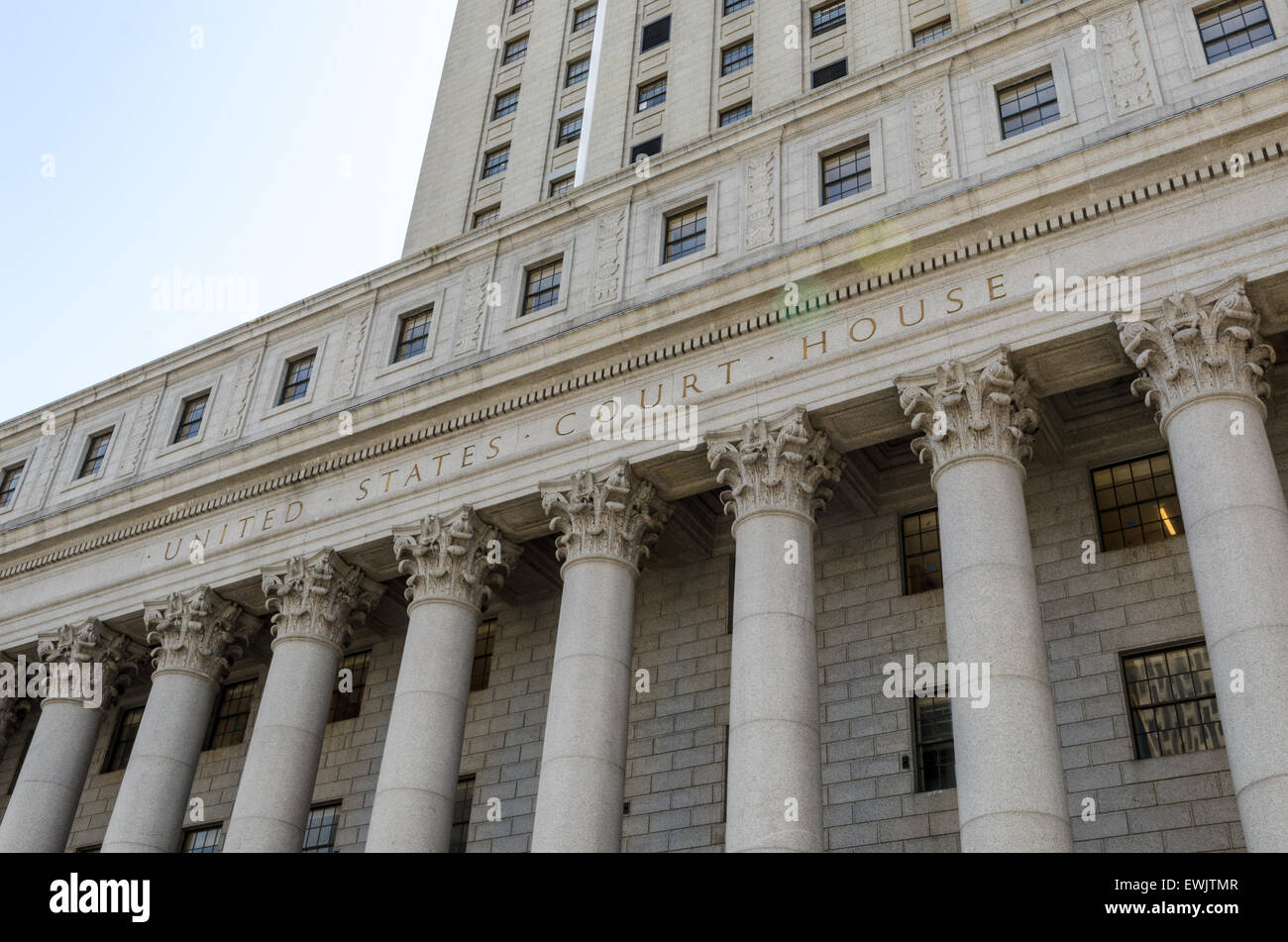United States Court House dans Lower Manhattan, New York City Photo Stock