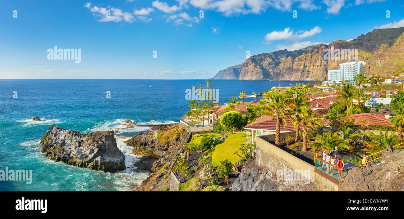Tenerife - Los Gigantes Cliff, Îles Canaries, Espagne Photo Stock