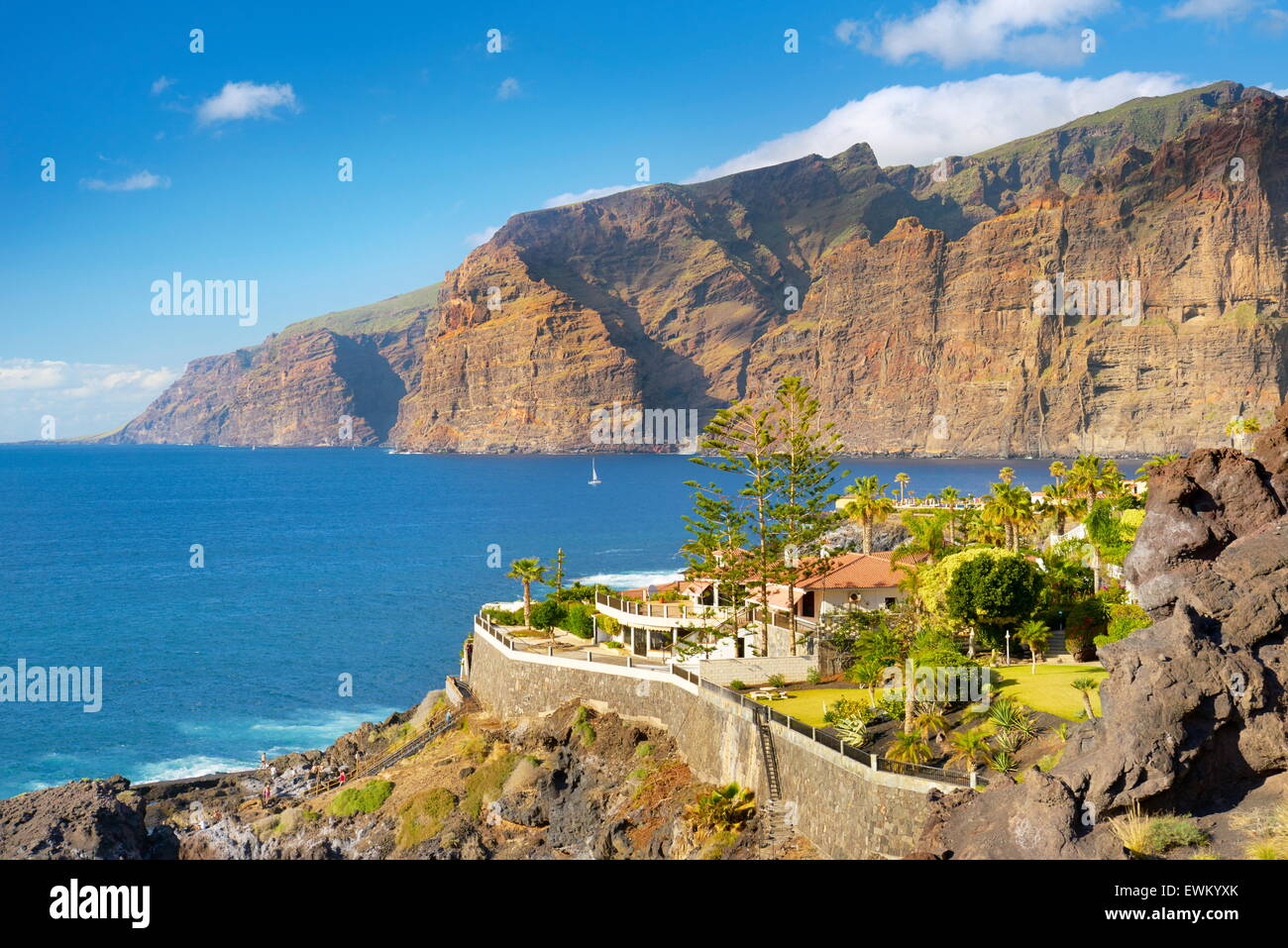 Los Gigantes Cliff, Tenerife, Canaries, Espagne Photo Stock