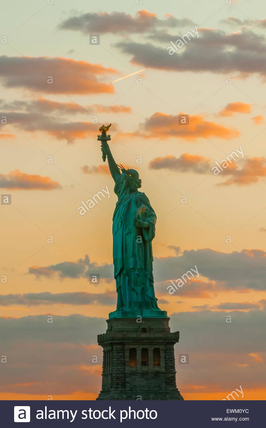 Statue de la liberté, le port de New York, New York, New York USA. Photo Stock