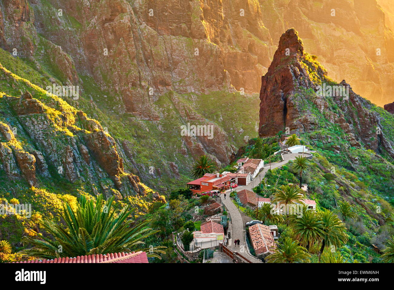 Village de Masca, Tenerife, Canaries, Espagne Photo Stock