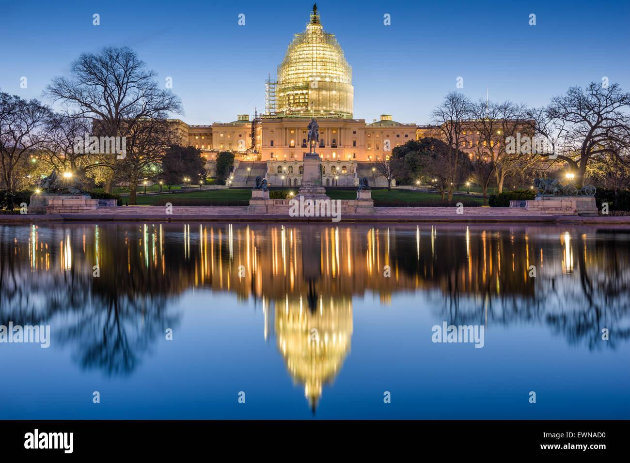 Washington, DC, le Capitol. Banque D'Images