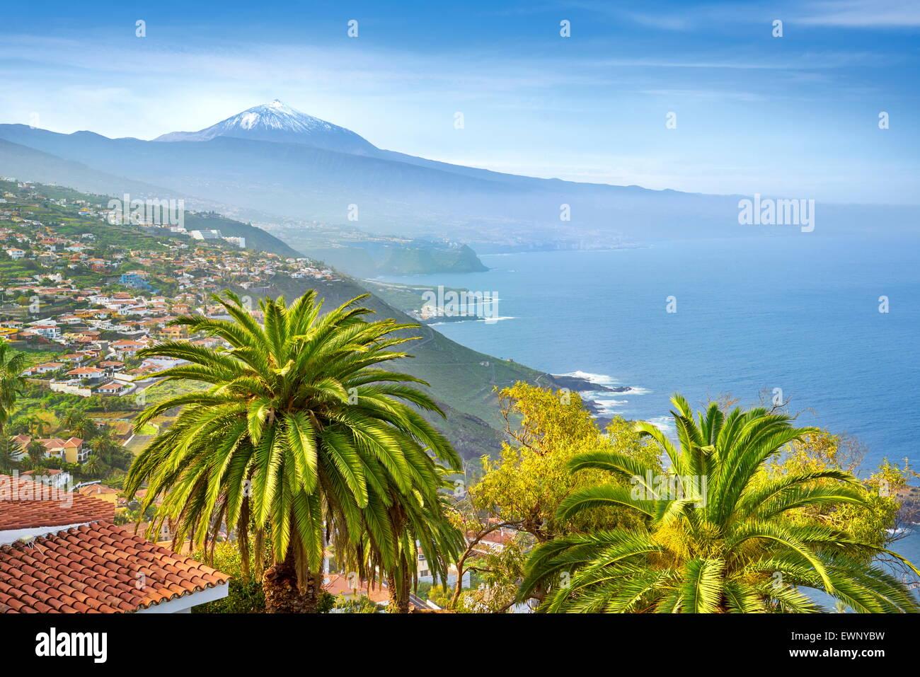 La côte nord de Tenerife, Canaries, Espagne Photo Stock