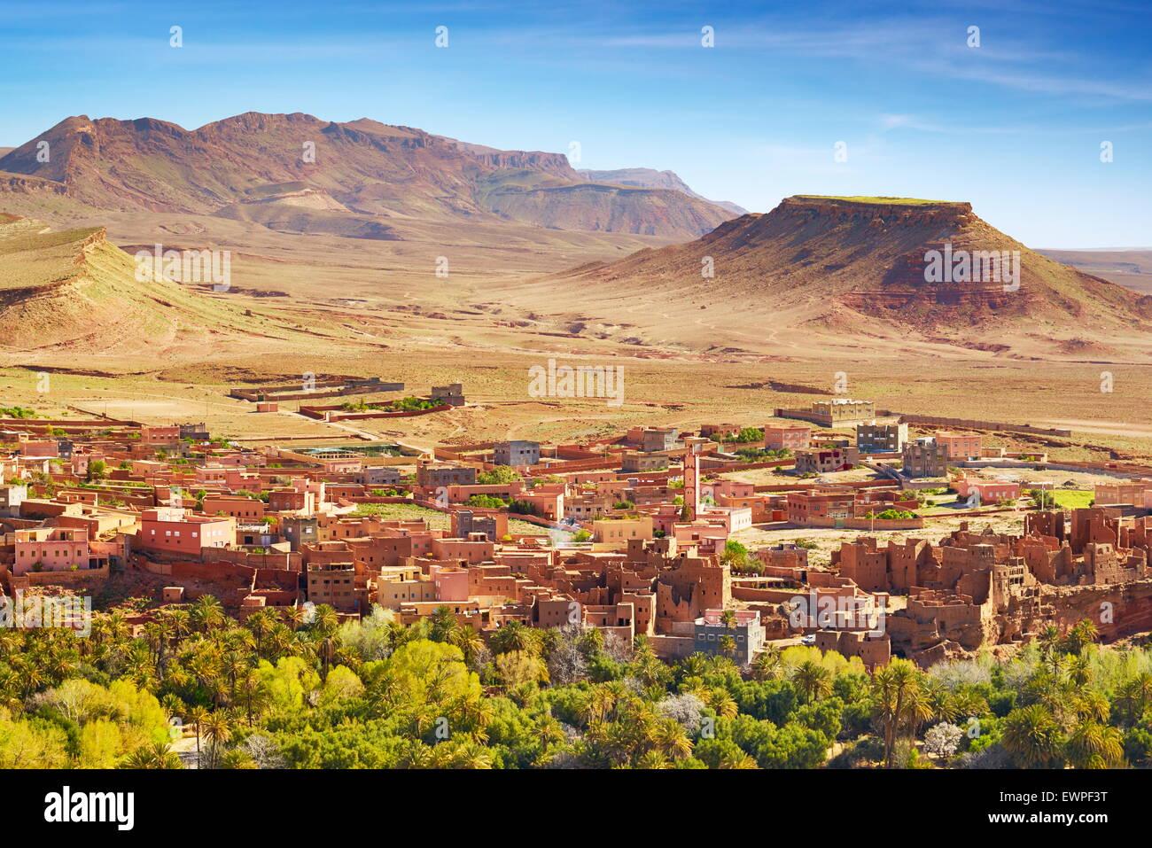Todra Tinghir, région. La région des montagnes de l'Atlas, Maroc Photo Stock