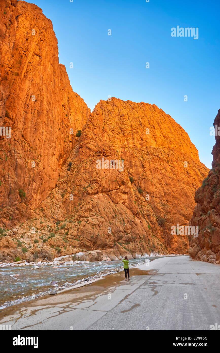 Gorges du Todgha, Tinghir, Maroc, Afrique Photo Stock