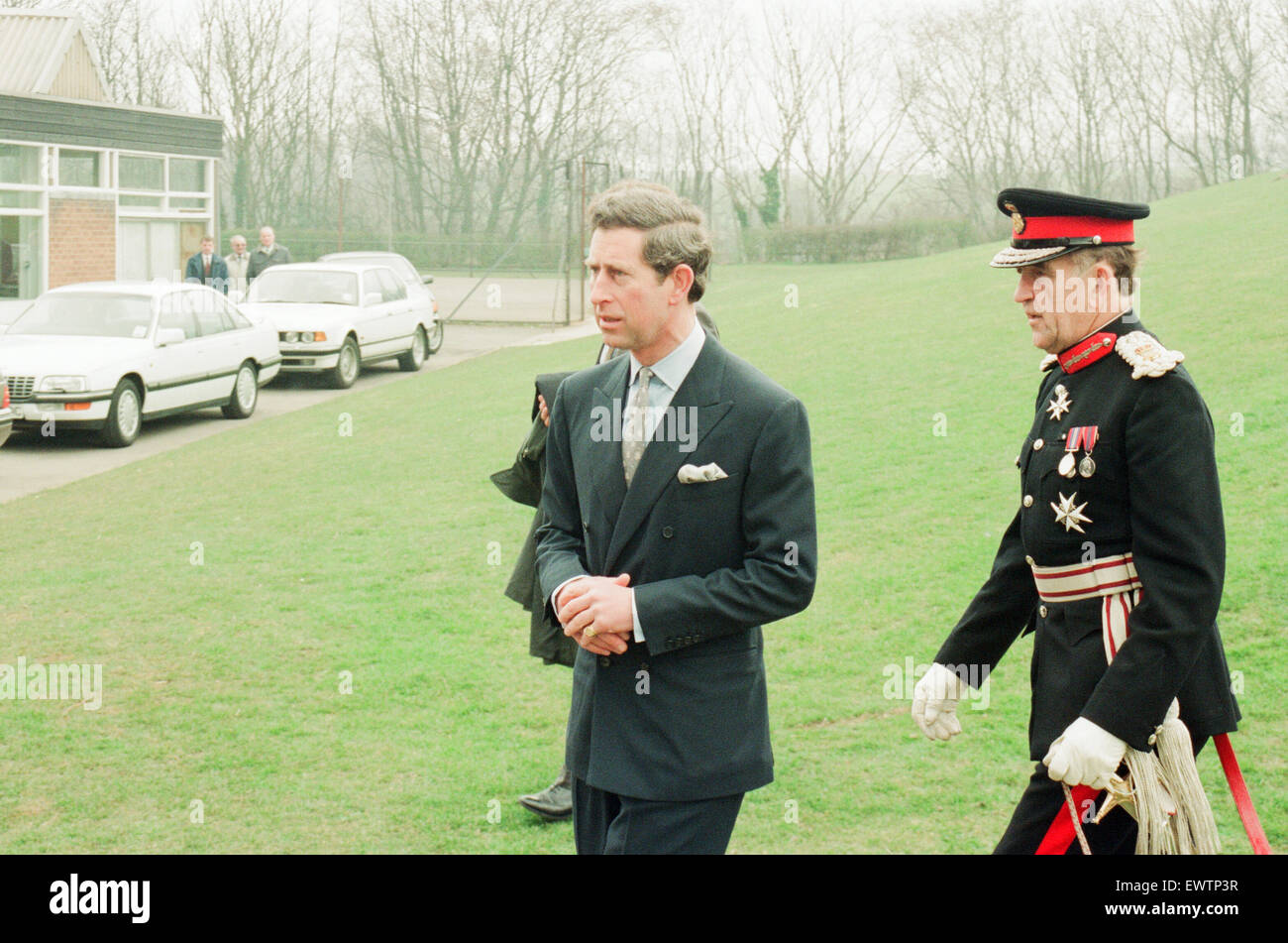 Le prince Charles rend visite à l'école secondaire Rosecroft, Loftus, Saltburn-By-the-Sea, Redcar Photo Stock