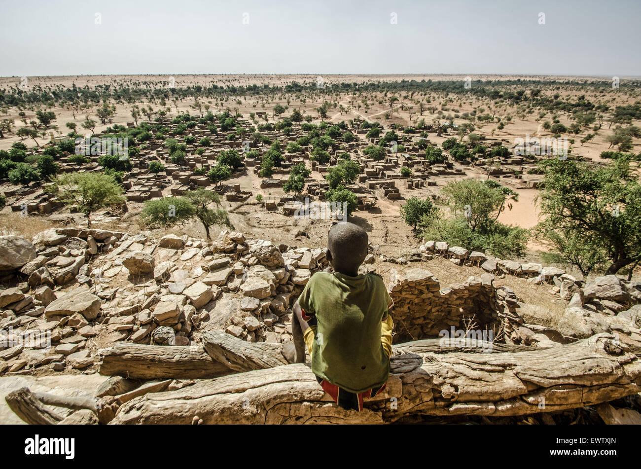 Pays Dogon, au Mali Photo Stock