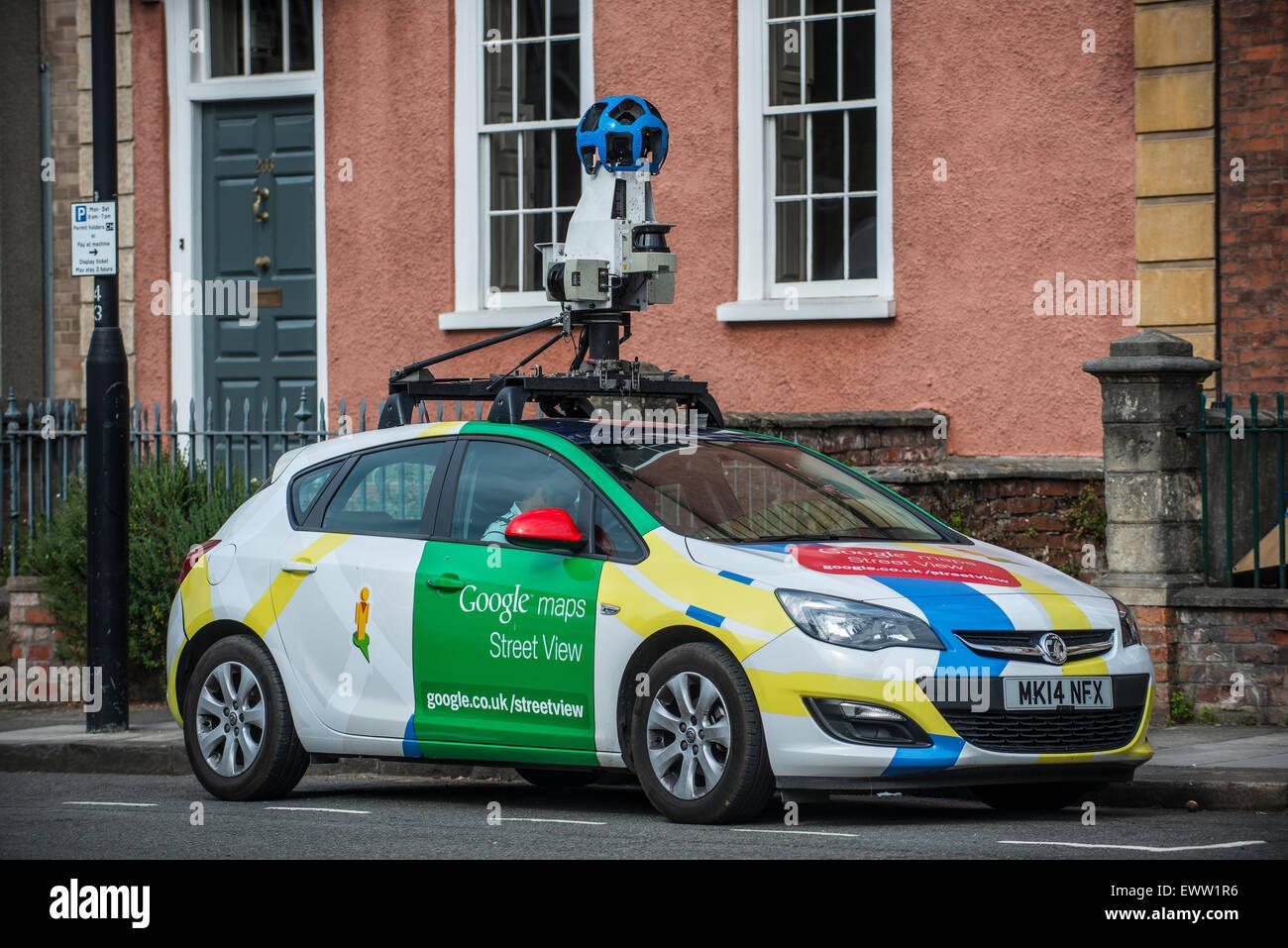 Une Voiture De Google Street View Sur Les Routes De Bristol Au