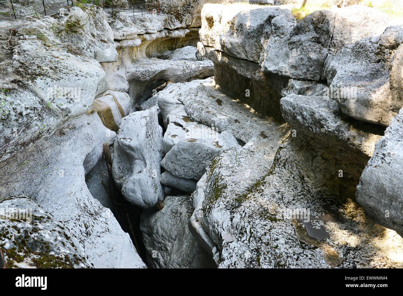 Les Gorges du Fier Mer des rochers en Haute-Savoie de France Photo Stock