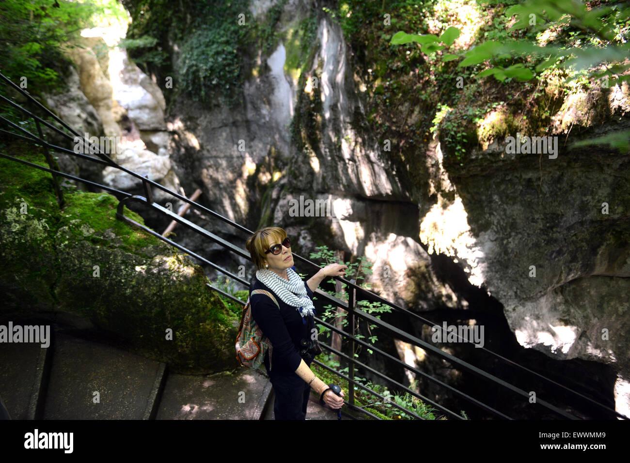 Les Gorges du Fier en Haute-Savoie de France Photo Stock