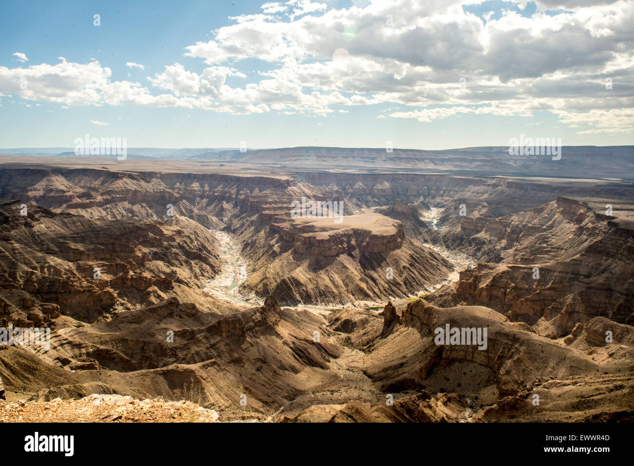 Hobas, Namibie, Afrique - Fish River Canyon, le plus grand canyon en Afrique. Une partie de l'ǀAi-ǀAis/Richtersveld Photo Stock