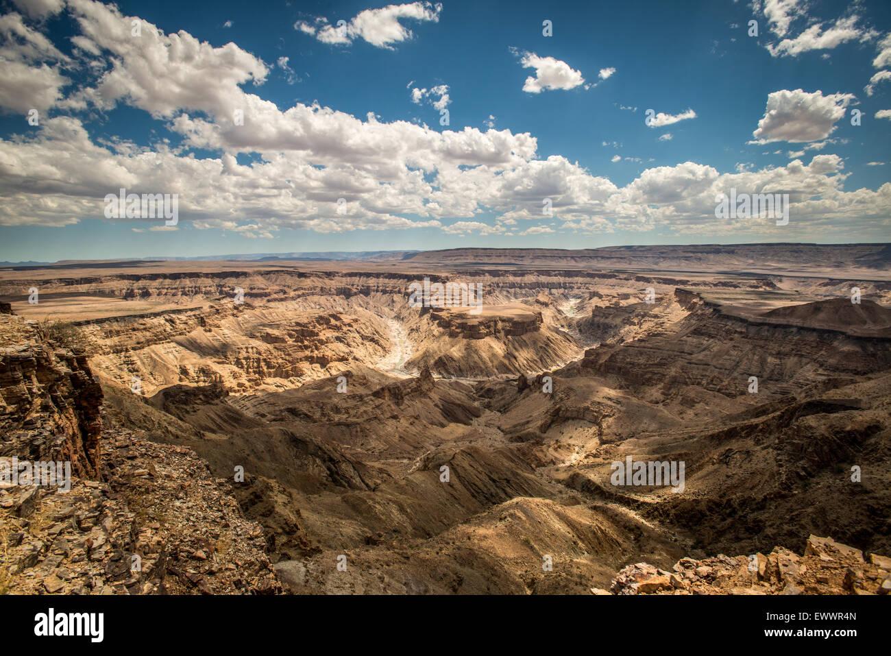 Hobas, Namibie, Afrique - Fish River Canyon, le plus grand canyon en Afrique. Une partie de l'ǀAi-ǀAis/Richtersveld Photo Stock