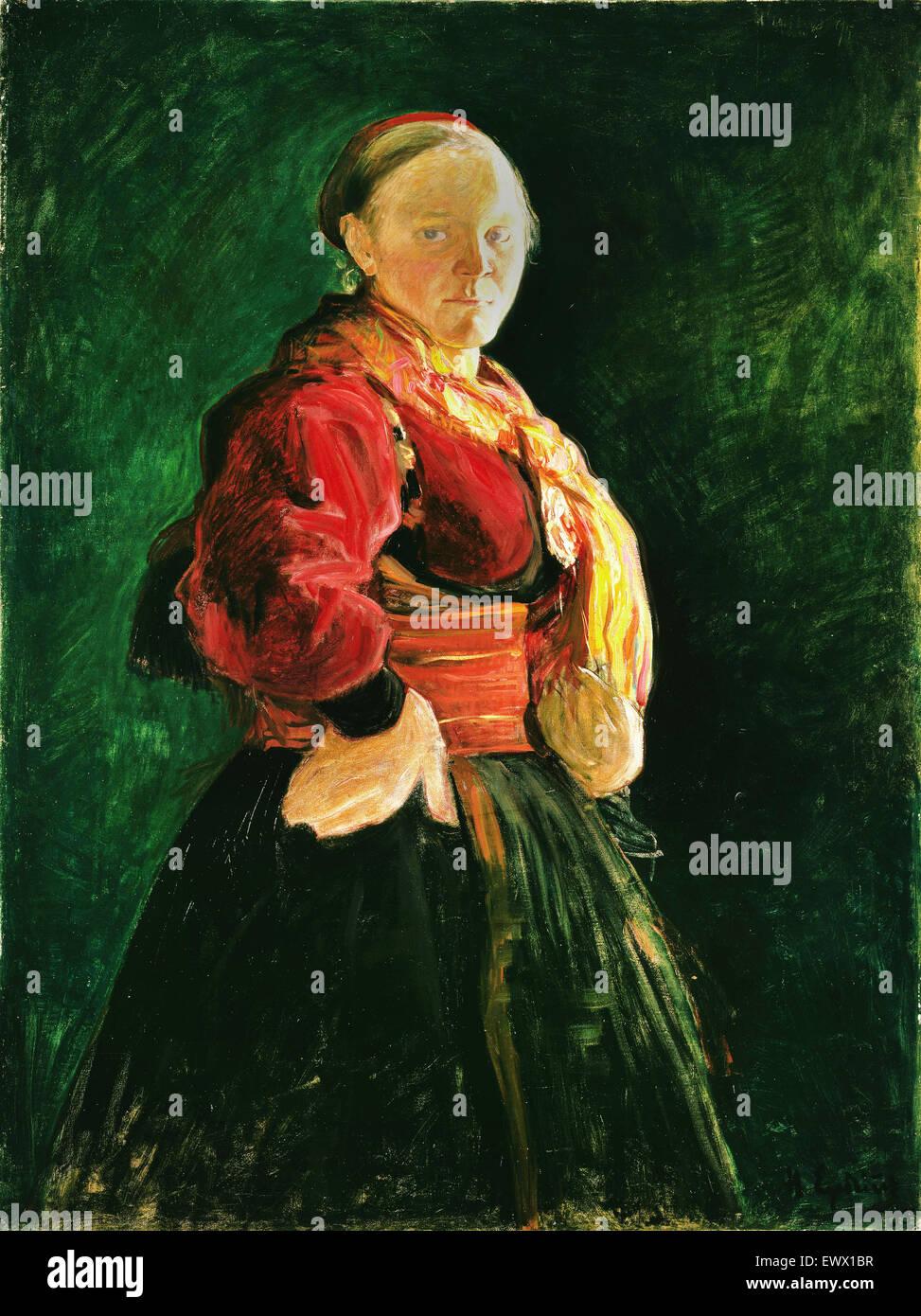 Halfdan Egedius, Portrait de Mari Clasen 1895 Huile sur toile. Musée national d'Art, Architecture et Design, Photo Stock