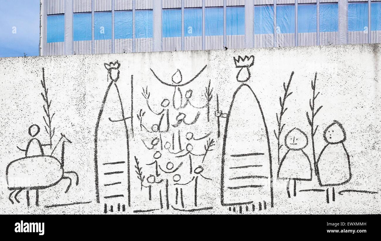 Frise pour enfants de Pablo Picasso Barcelone Espagne Banque D ...