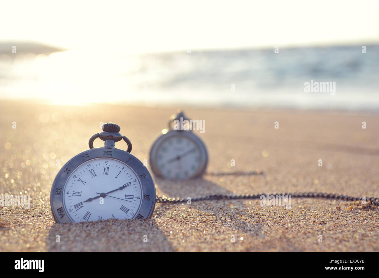 horloge temps Photo Stock