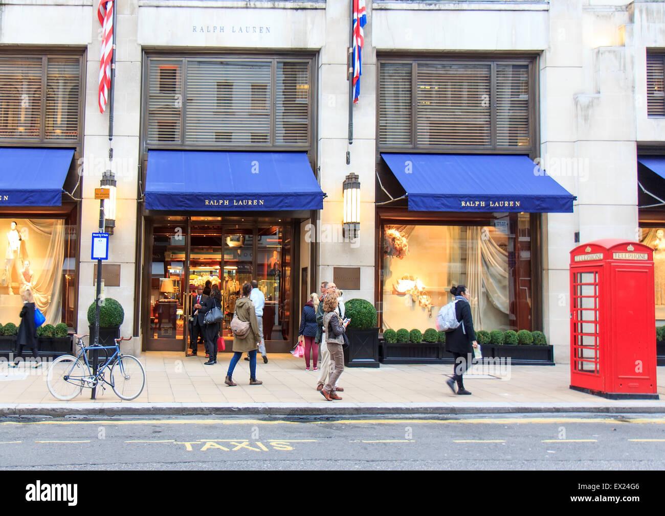 Ralph Lauren designer boutique de mode à New Bond Street, Londres, octobre  2014. 332f07eea6f
