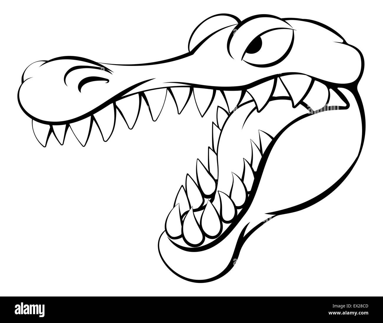 Un Dessin Anime Crocodile Ou Alligator Photo Stock Alamy