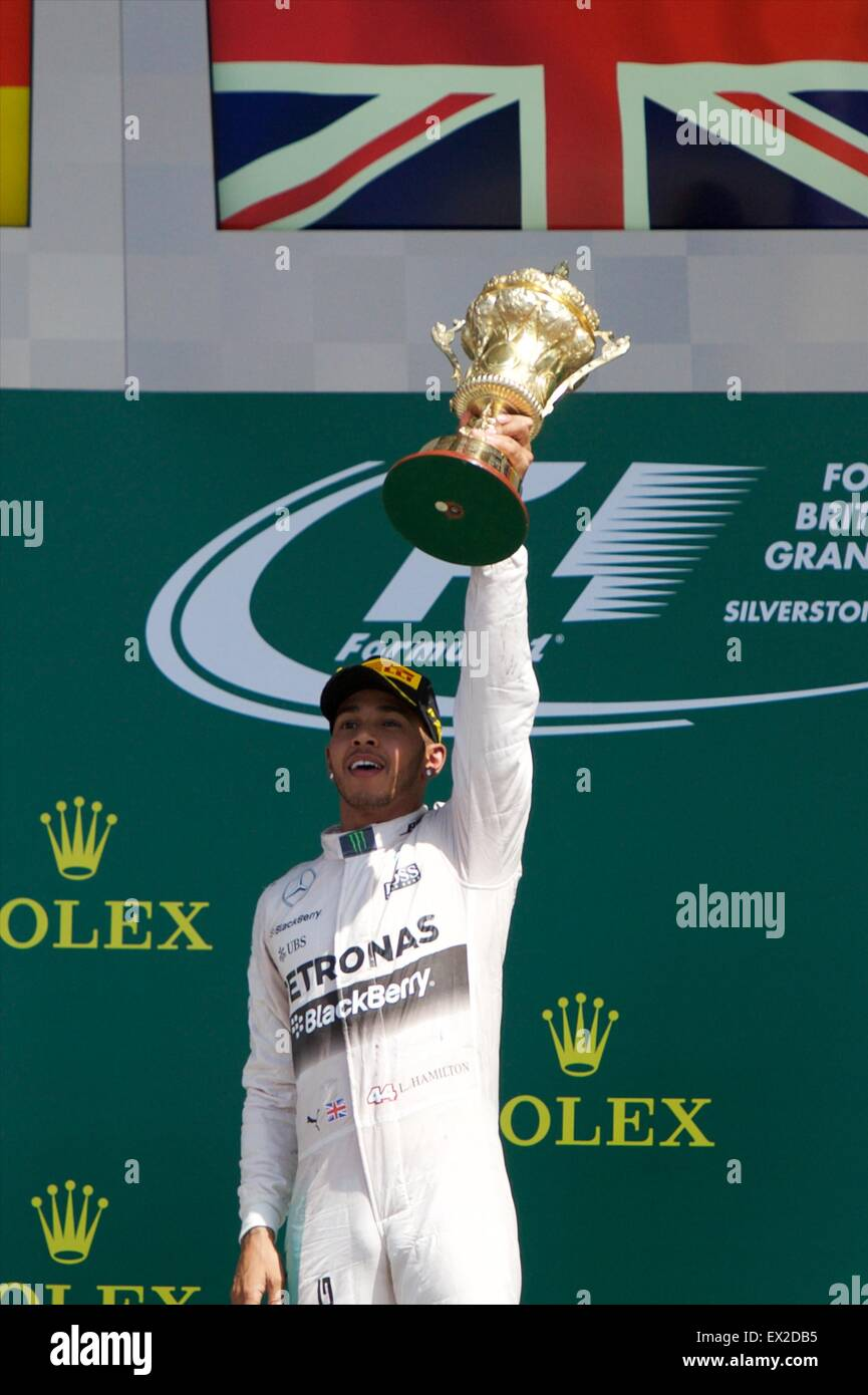 Silverstone, Northants, UK. 05 juillet, 2015. La Formule 1 Grand Prix de Grande-Bretagne. Lewis Hamilton (Mercedes Photo Stock
