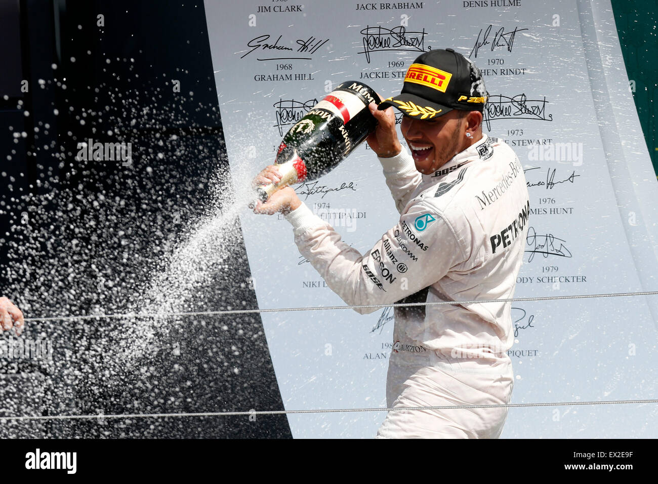Silverstone, UK. 5 juillet, 2015. Sport Automobile : Championnat du Monde de Formule 1 de la FIA 2015, Grand Photo Stock