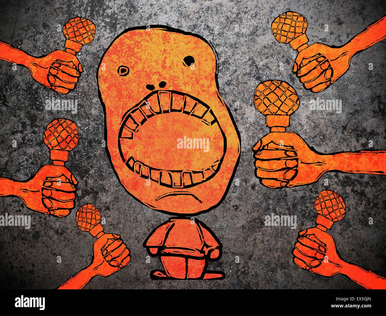 Parler aux media concept illustration Photo Stock