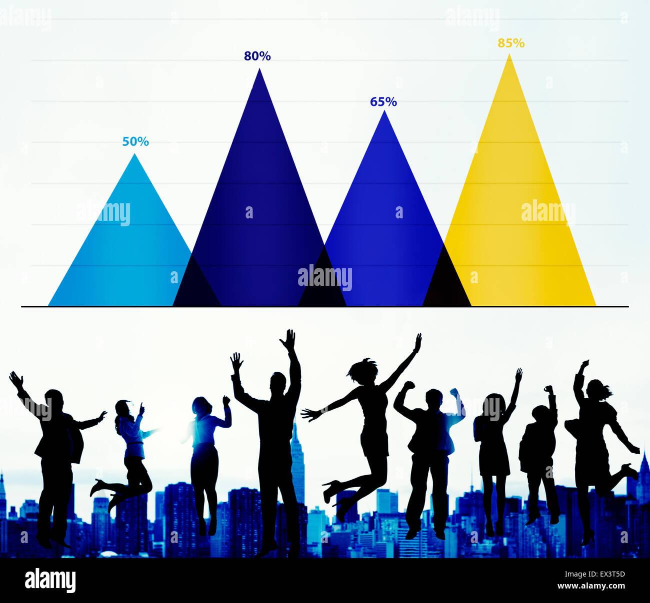 Stratégie d'analyse des données d'entreprise Concept Graphique Marketing Photo Stock