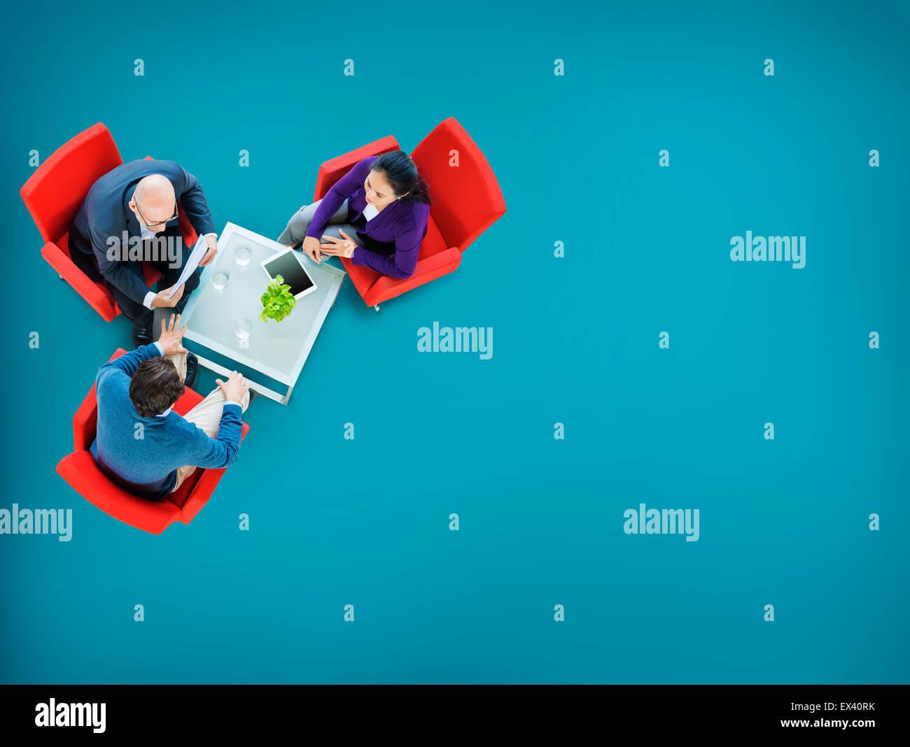 Stratégie de planification de la collaboration d'équipe de réflexion Concept Photo Stock