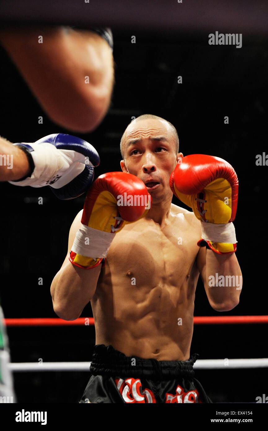 Combat de boxe Muay Thai Kick Photo Stock