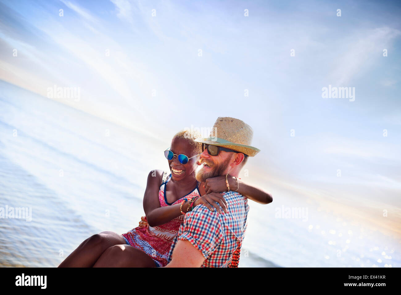 Sweet Beach Des vacances Couple Love Concept Photo Stock