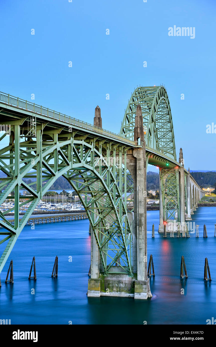 Yaquina Bay Bridge, Newport, Oregon USA Photo Stock