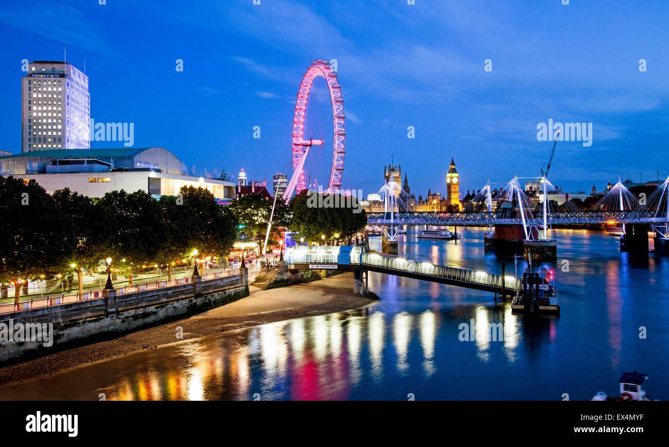 Waterloo Sunset London UK Photo Stock