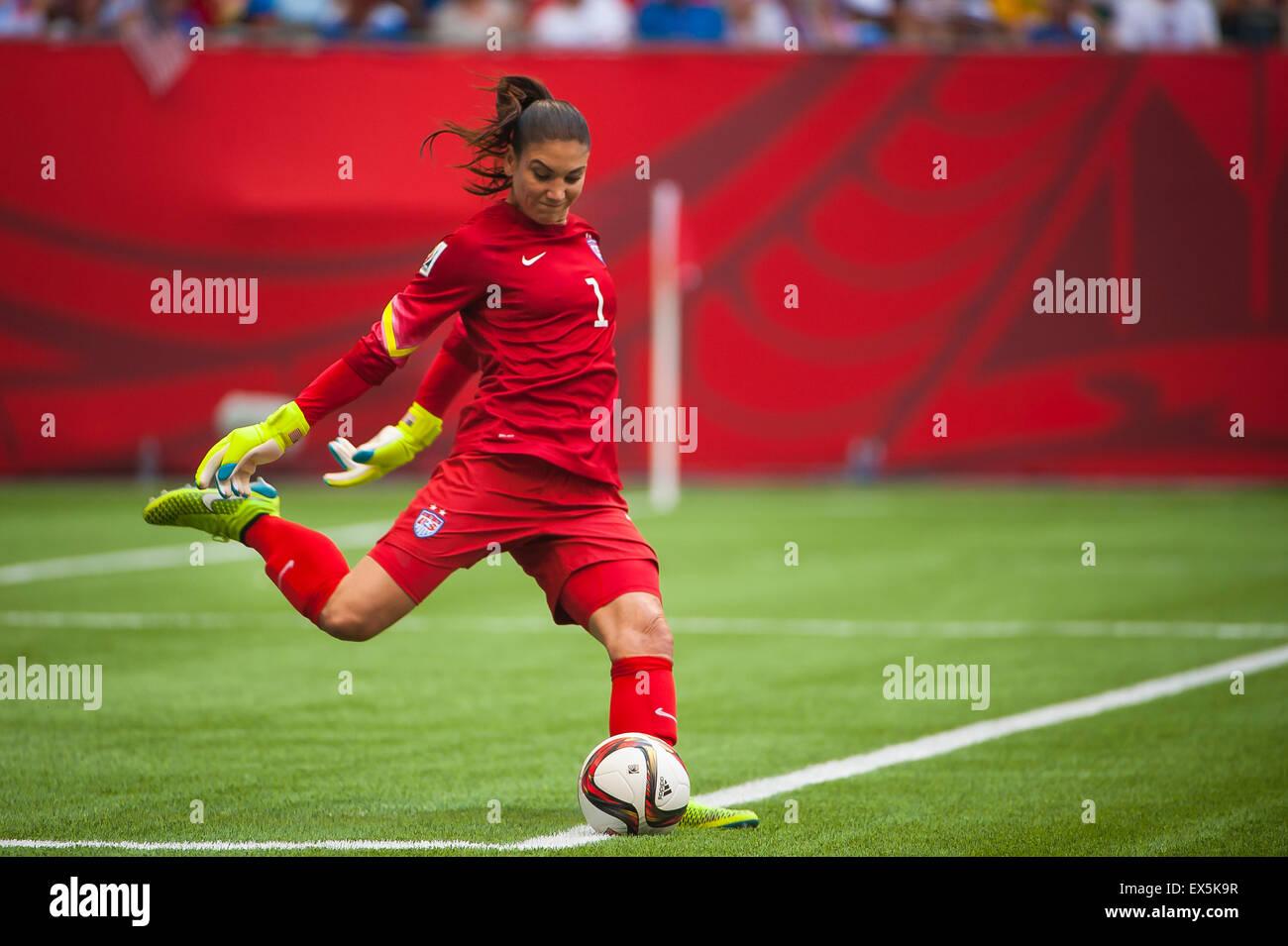 Vancouver, Canada. 5 juillet, 2015. lors de la Coupe du monde match final entre les USA et le Japon lors de la Coupe Photo Stock