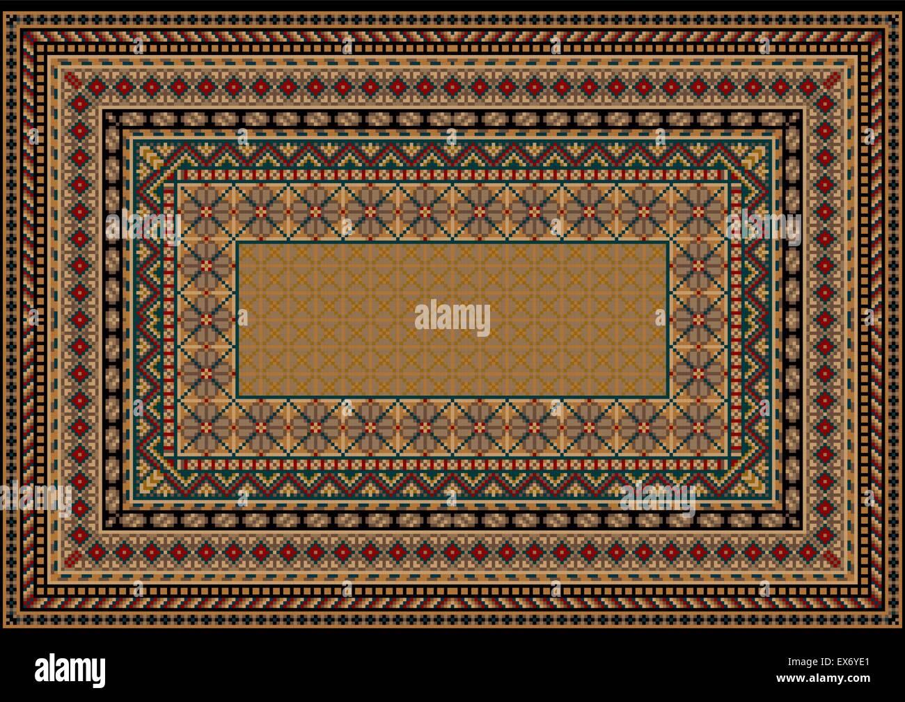 Tapis Design classic avec divers modèles de frontière dans ...