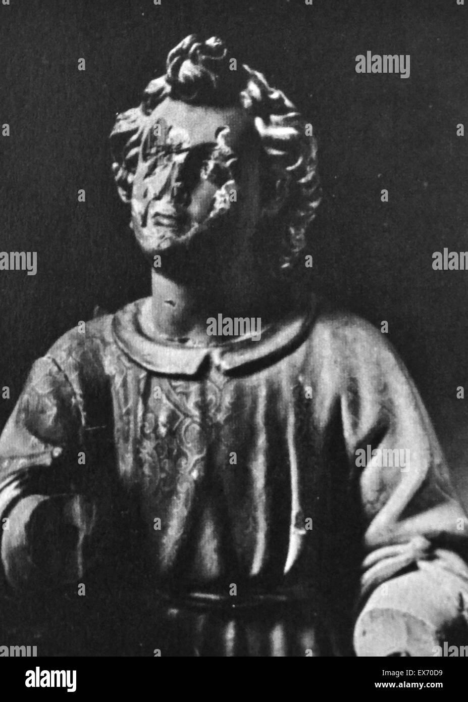 La profanation de reliques et d'art religieux républicain était la conséquence d'actions anti-catholiques contre Banque D'Images