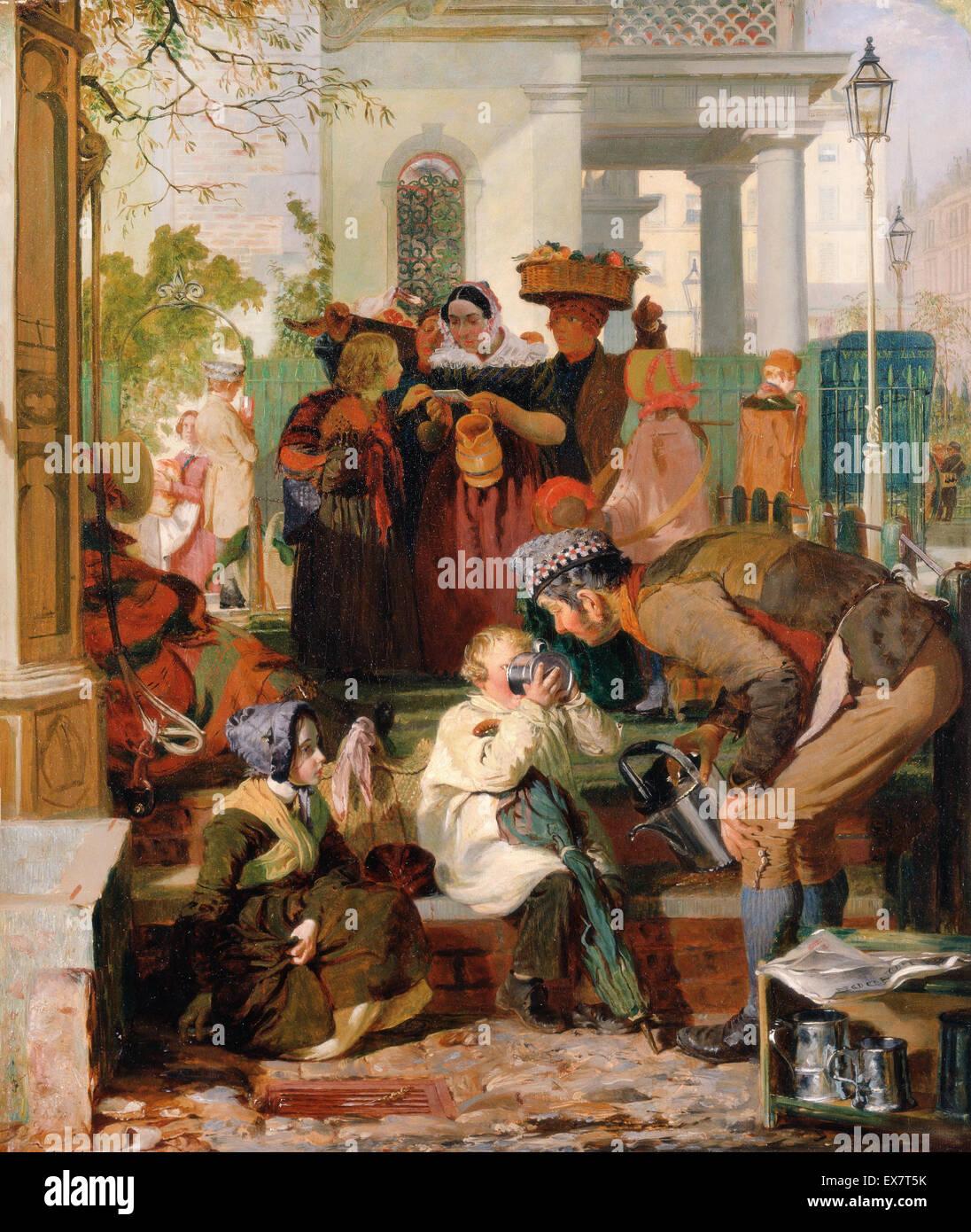 Robert Hannah, l'actualisation de la LAS. Circa 1847. Huile sur toile. Yale Center for British Art, New Haven, Photo Stock