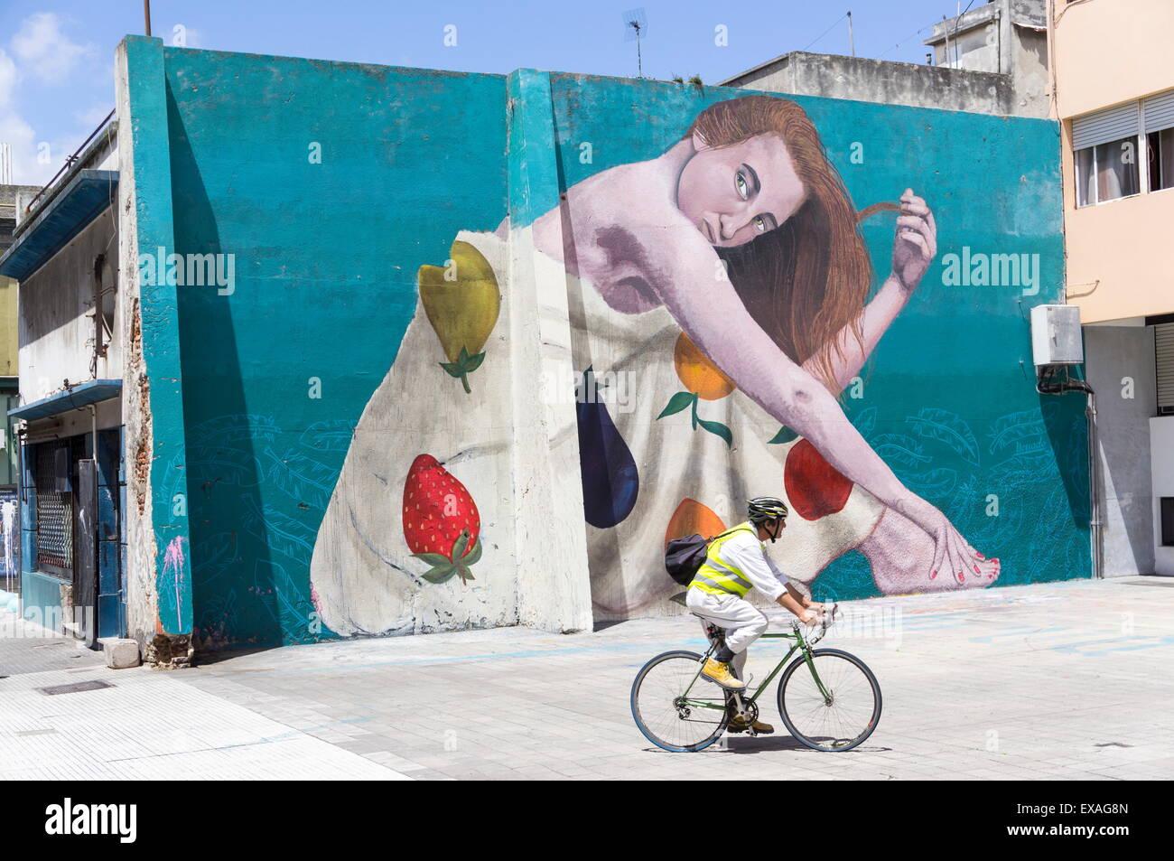 Les graffitis, Montevideo, Uruguay, Amérique du Sud Photo Stock