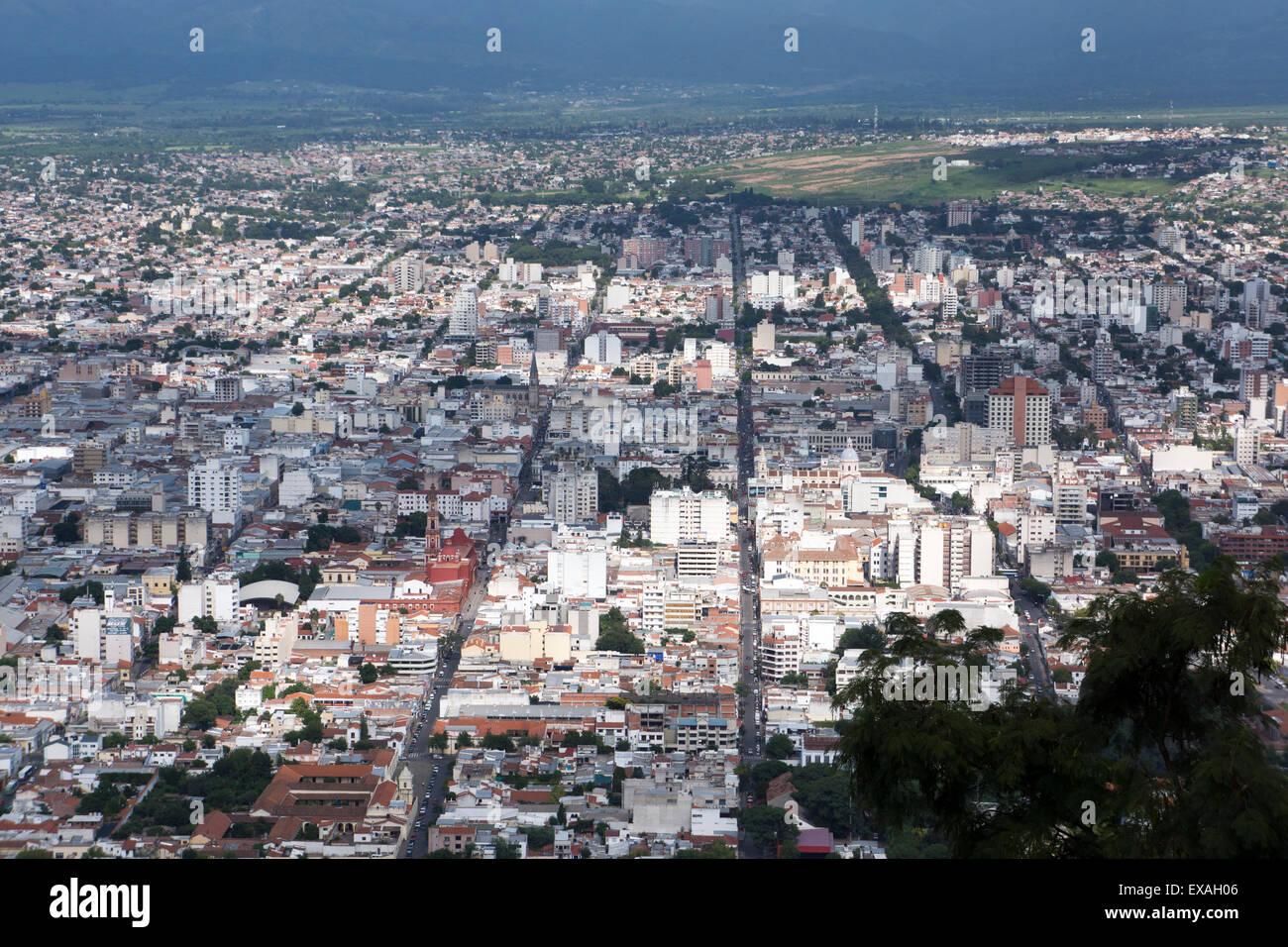 Au-dessus de Salta, Argentine, Amérique du Sud Photo Stock