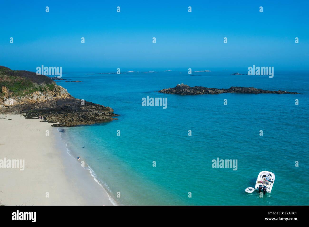 Belvoir Bay, Herm, Channel Islands, Royaume-Uni, Europe Photo Stock