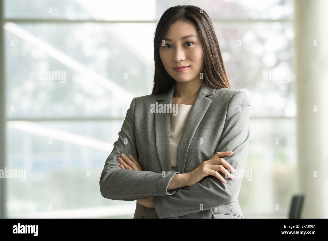 Chef d'entreprise, portrait Photo Stock
