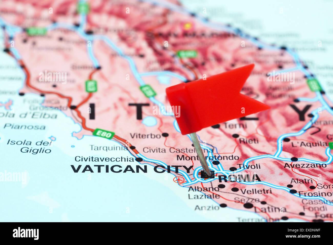 Carte De Leurope Rome.Rome Epinglee Sur Une Carte De L Europe Banque D Images
