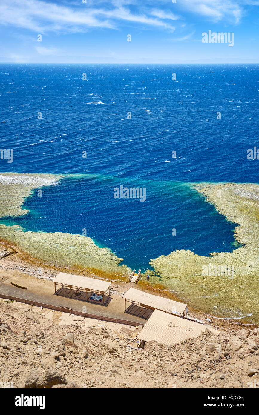 Blue Hole, Dahab, Sinai, Red Sea, Egypt Photo Stock